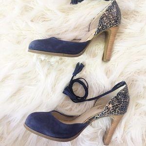 Seychelles blue suede heels